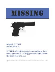Missing Gun Poster 14-20 copy