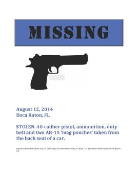 Missing Gun Poster 14-20 copy