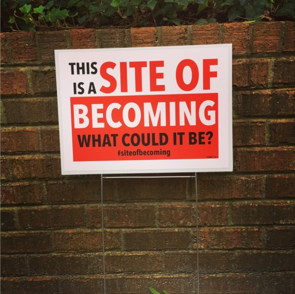 Site of Becoming, 2016, digital print posters, 12x18 in.
